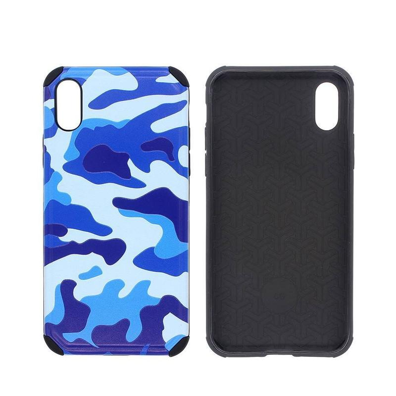 Cajas Combo para iPhone X con Camuflage PC Back Covers