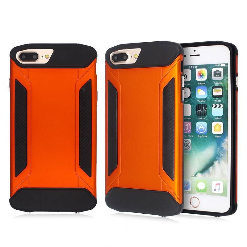 iPhone 7 Plus Cases with Rubberized Covers and Electroplated Buttons
