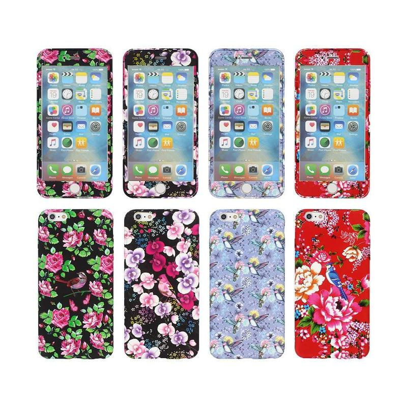 Fully protective Case iPhone 6 Plus with Embossed Pretty Artworks