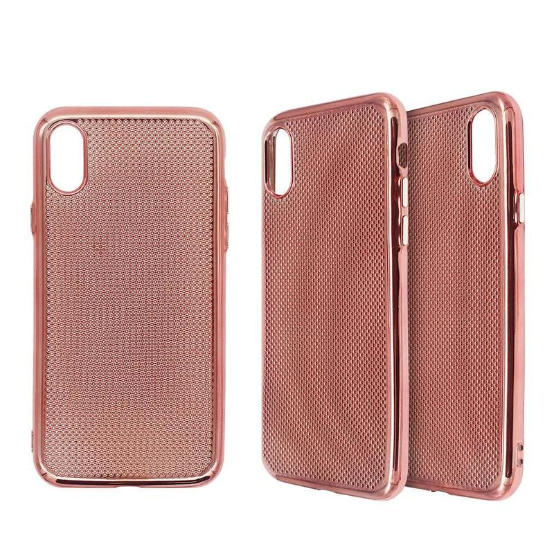 Electroplating iPhone X TPU Case in Honey Comb Design