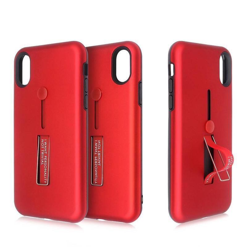 Funda protectora para iPhone X con agarre de dedo y soporte