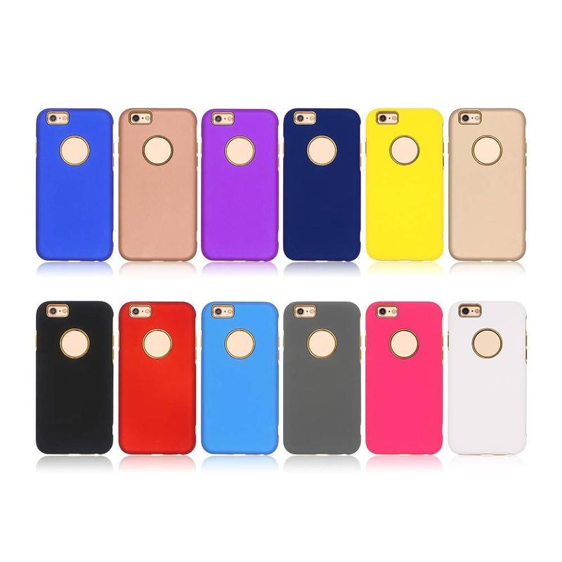 Electroplate Case for iPhone 6 with Rubberized PC Cover