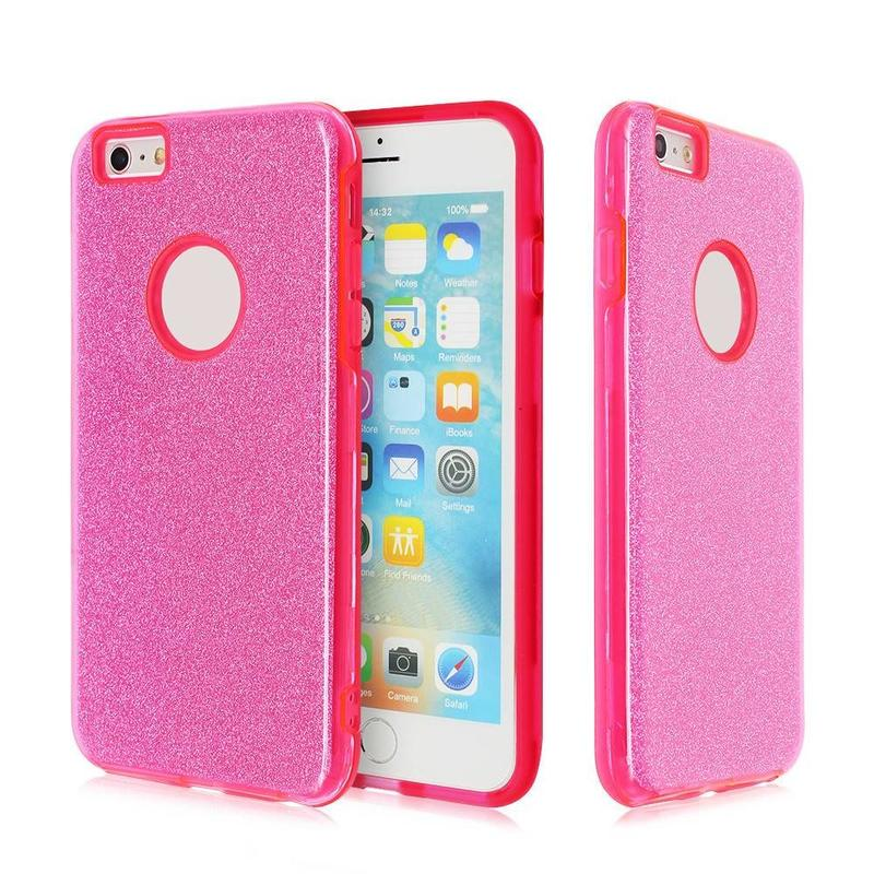 Slim iPhone 6 Plus Case with Glittering Paper Inside