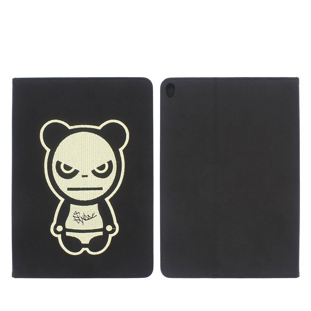 Caja protectora de la tableta con la obra de arte de la panda del bordado