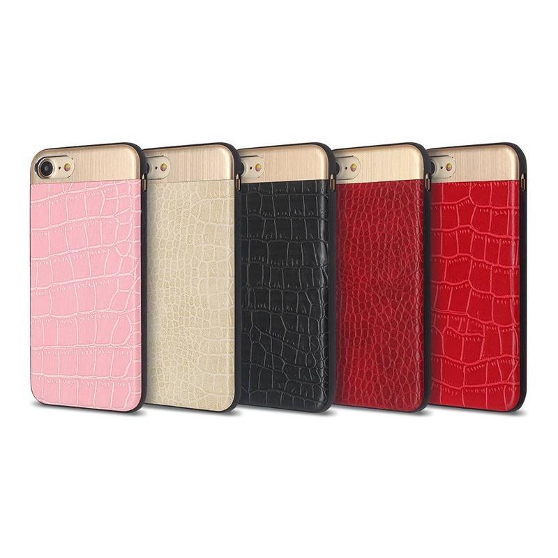 Nuevos estuches para iPhone 7 con decoración de metal y PU