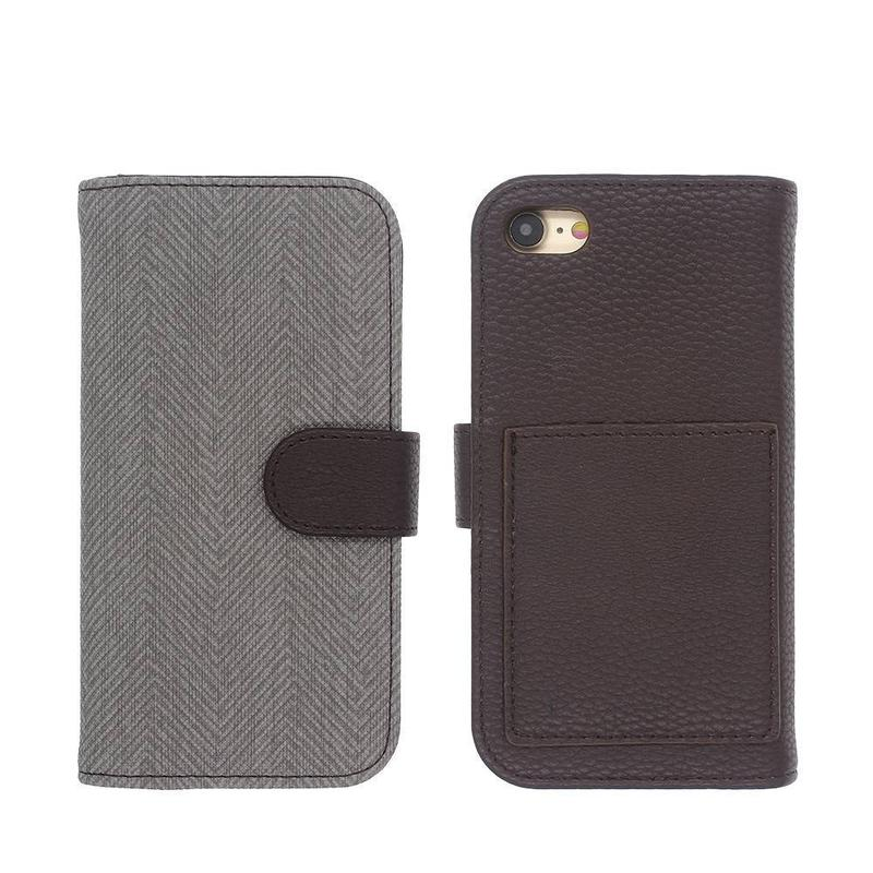 Funda de piel con monedero iPhone 7 en diseño elegante simple