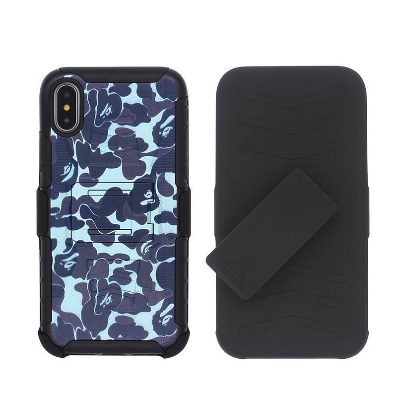 Camuflaje protectora iPhone X armadura caja del teléfono para la venta por mayor