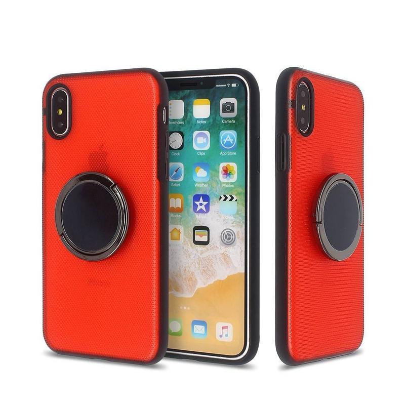 iPhone X fundas para teléfonos nuevos con anillos giratorios