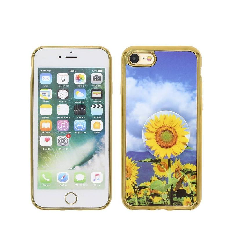 Electroplating iPhone 7 Case with Nice Artwork and Popsocket