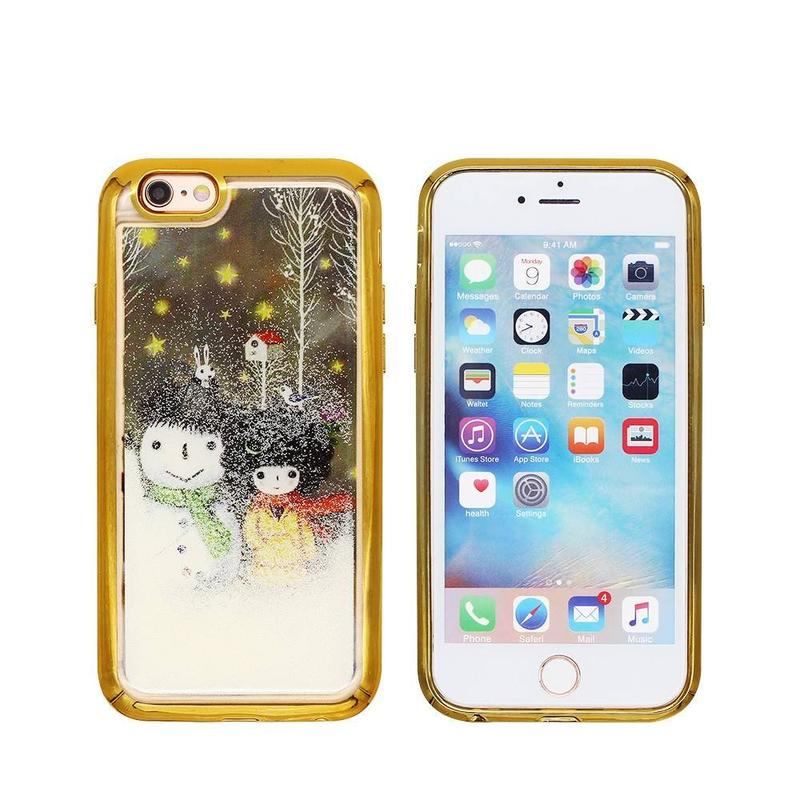 Funda iPhone 6 Quicksand con Electroplate y Diamond Bumper