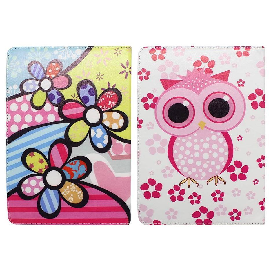 Rotatable 10 Inch Tablet Leather Cover with Cute Artworks