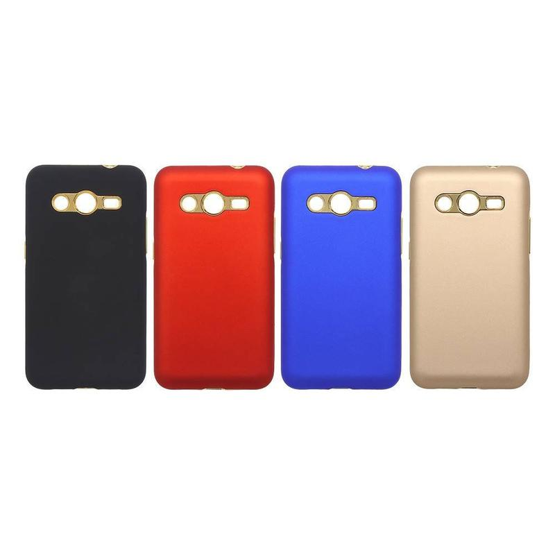Rubberized and Electroplating Protective Samsung Core2 Case