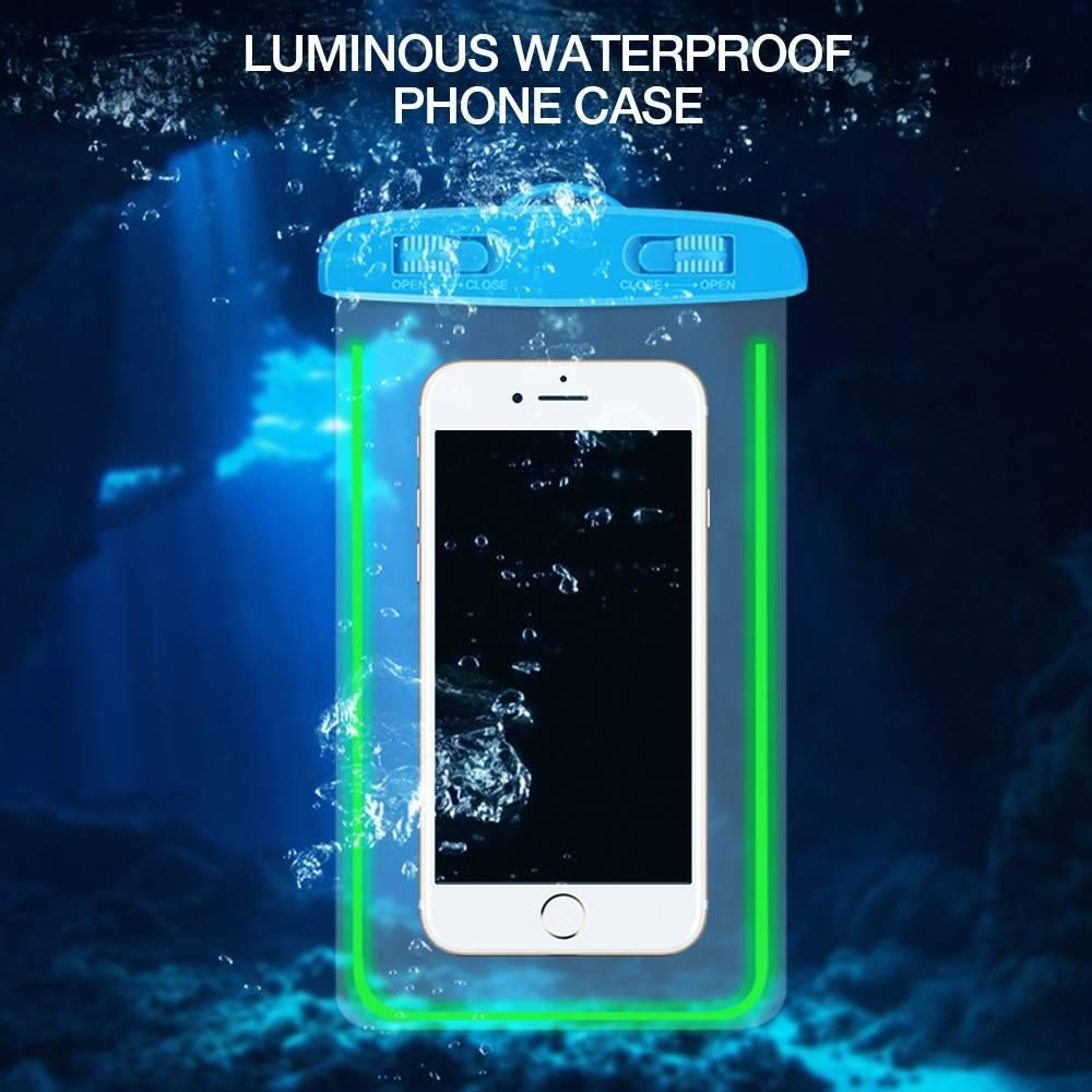 Bolsa de bolsa de teléfono impermeable luminosa universal al por mayor