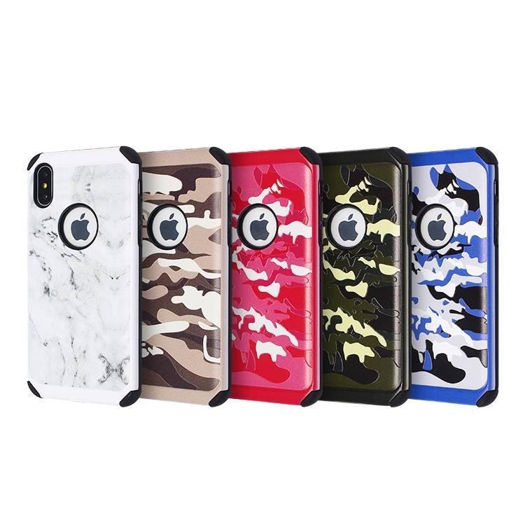 Nuevo estuche de estampado de camuflaje para IPhone X a granel