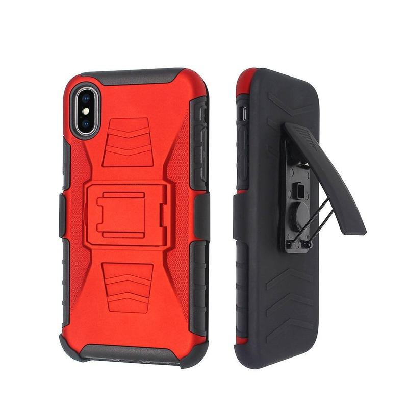 3 Funda Combo en 1 Holster Robot para IPhone X al por mayor