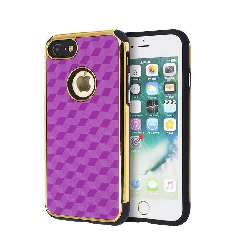 Electroplating 2 in 1 Veneer Leather Case for IPhone 7