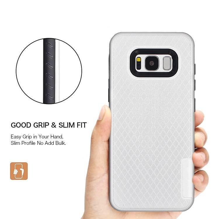 2 IN 1 TPU and  PC Hybrid Smart Phone Case for samsung s8