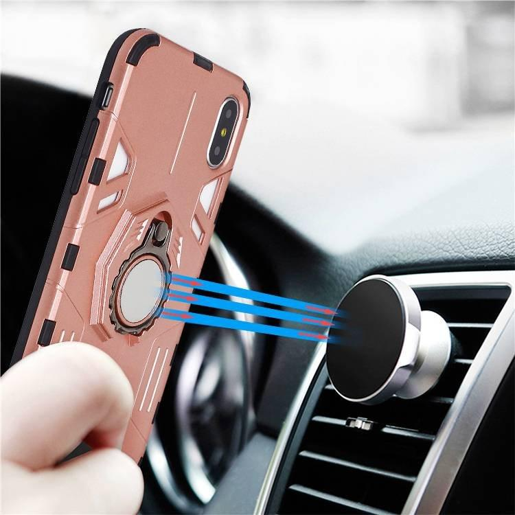 iPhone X Case With Ring Grip Stand Compatible with Magnetic Car Mount