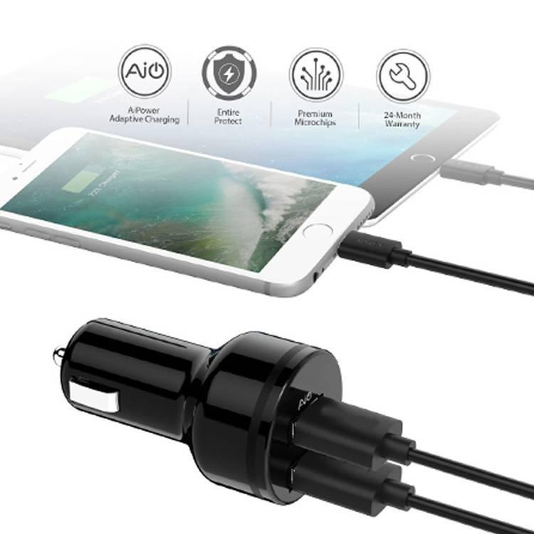 Quick Charge Car Adapter with Dual QC USB Ports