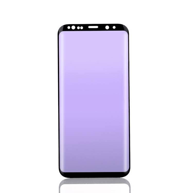 Anti Blue Light Tempered Glass Silk Print 3D Curved 9H for Samsung Galaxy S8