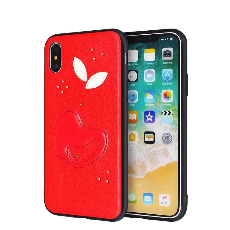 Stitching TPU Case Back cover For iPhone X