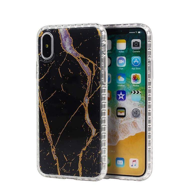Funda clara transparente de TPU de mármol para iPhone X al por mayor