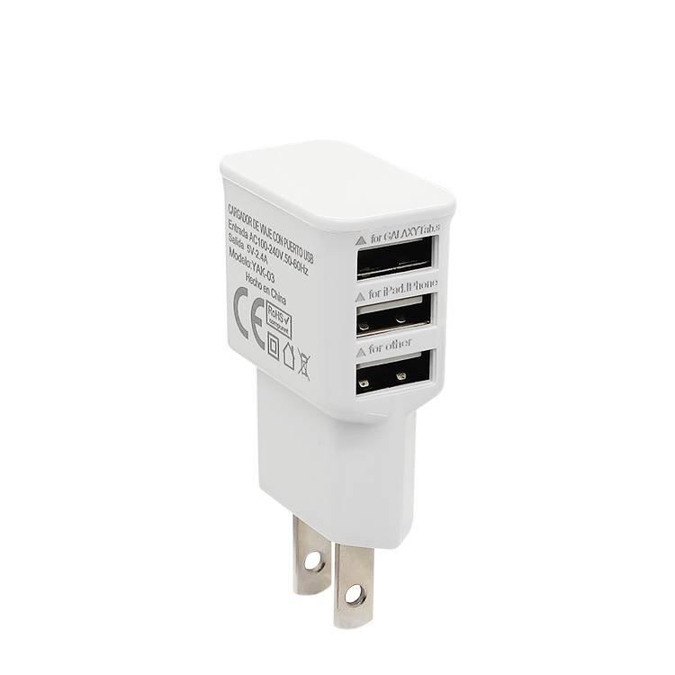 Cargador de teléfono USB universal de 3 puertos para iPhone para Samsung