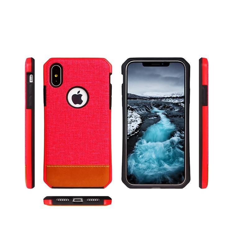 2 IN 1 Leather Sticker Case Wholesale for iPhone X
