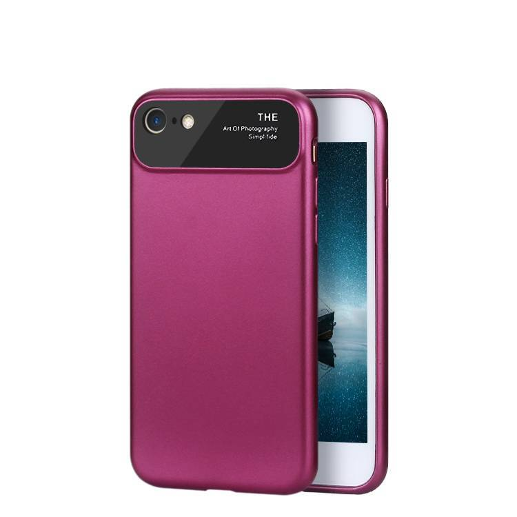 2 in1 case for iPhone 7 plus with metal camera protection lens