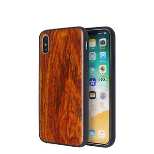 Wood Grain Leather Sticker Case for IPhone X Wholesale