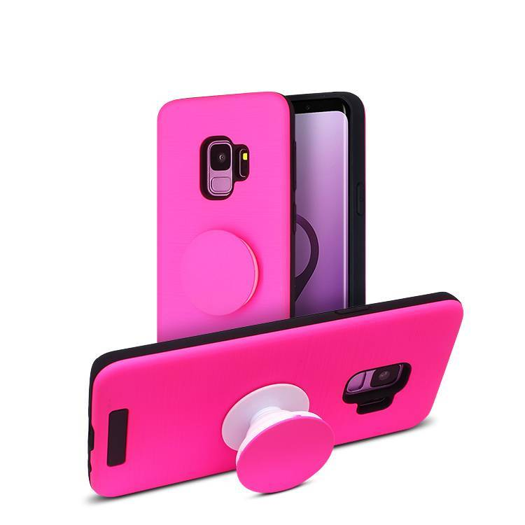2 in 1 hybrid Case for Samsung s9 with popsocket