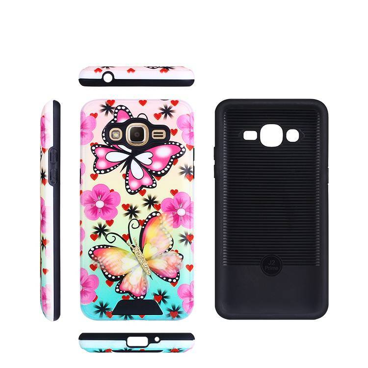 Butterfly pattern designed case for Samsung J2 Prime