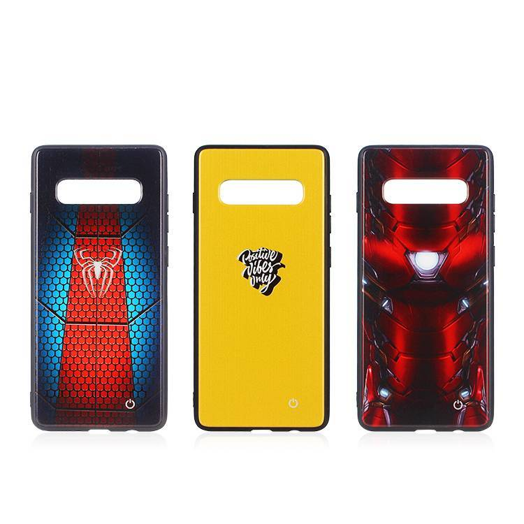 Customized Marvel Phone Case for Samsung Galaxy S10 with LED Light