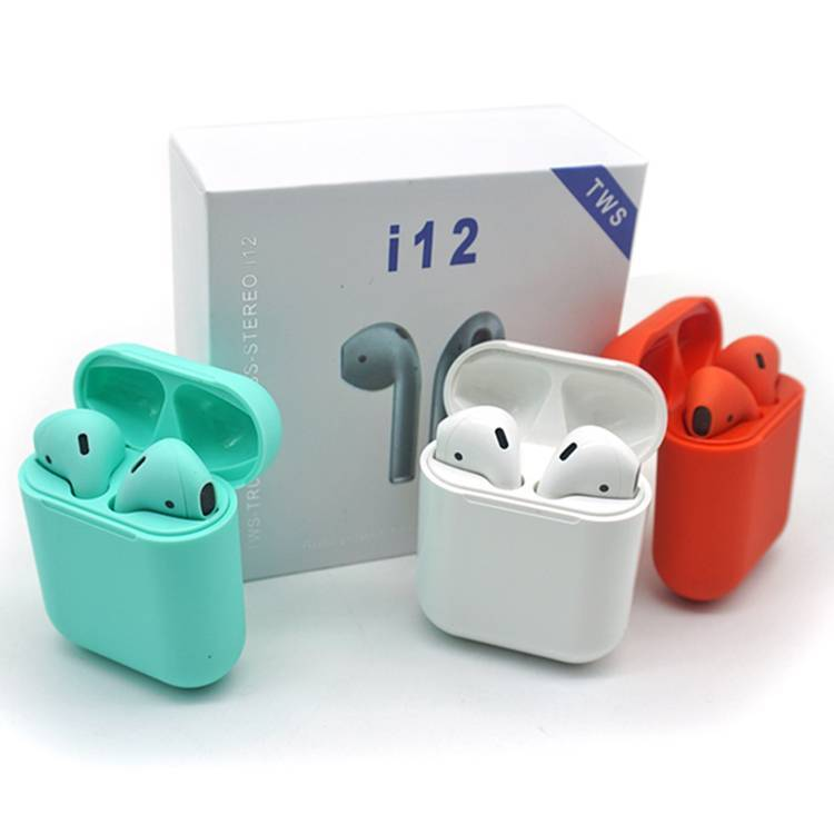 i12 tws bluetooth 5.0 earphone wireless earbuds