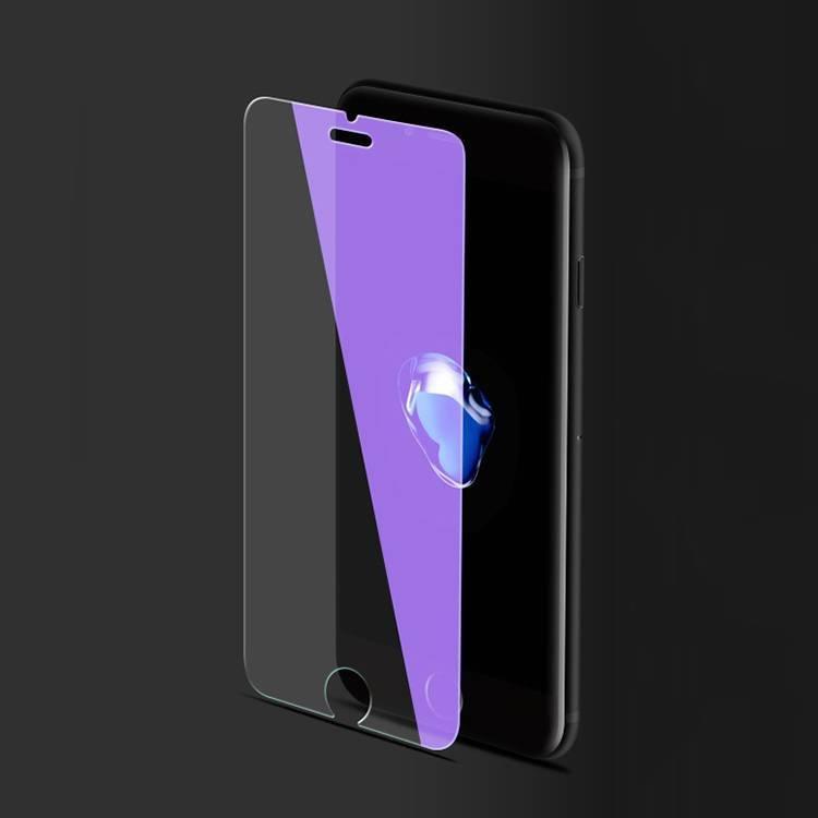 Alto protector transparente claro transparente azul de la pantalla para el iPhone 7