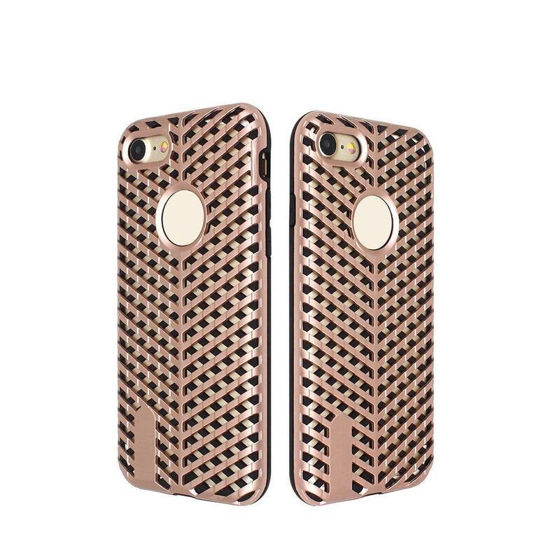 Único enrejado de calor Radiating Combo caso para el iPhone 7