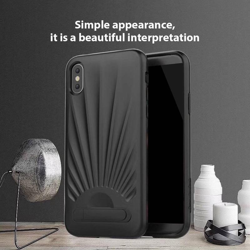 Funda protectora para iPhone X con apariencia agradable y Kickstand