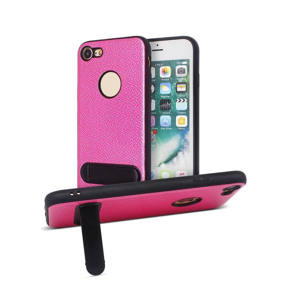 Venta al por mayor IPhone Veneer Leather Case con Kickstand