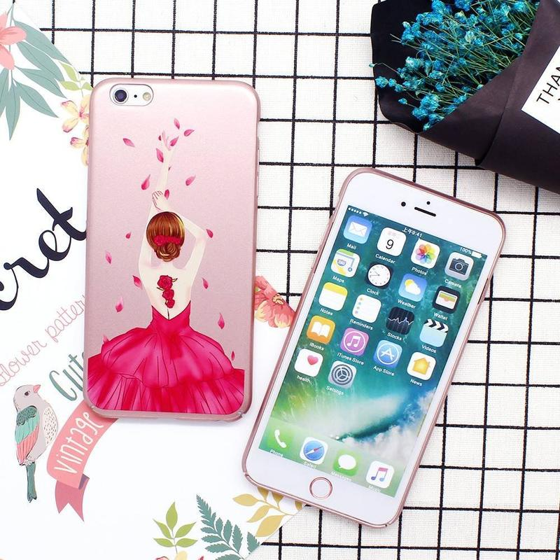 Pretty iPhone 6 casos de PC con hermosas obras de arte
