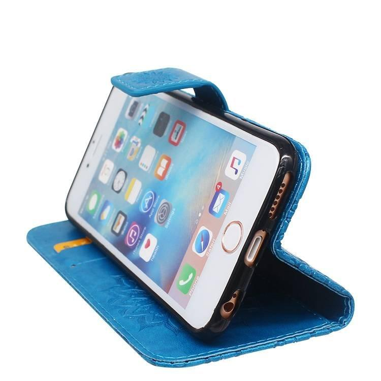 Embossed PU Leather Wallet Case for iPhone 6 wholesale