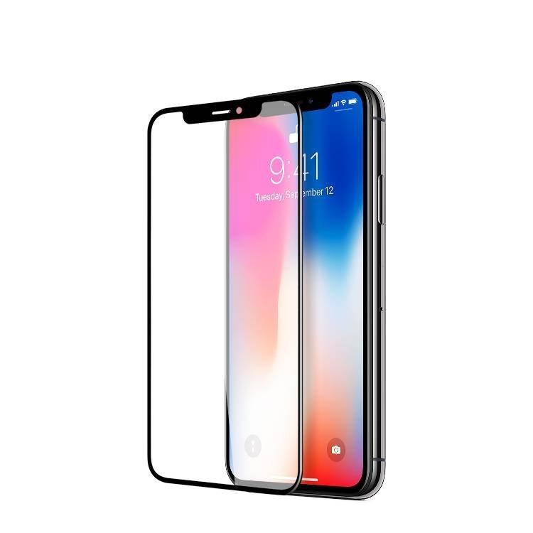 Película de protector de pantalla de vidrio templado de cobertura completa para Apple iPhone X