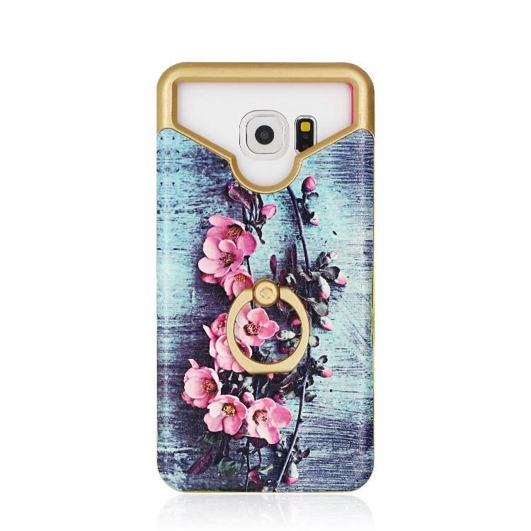 Color Printing Universal Leather Stick Case With Ring Holder Wholesale