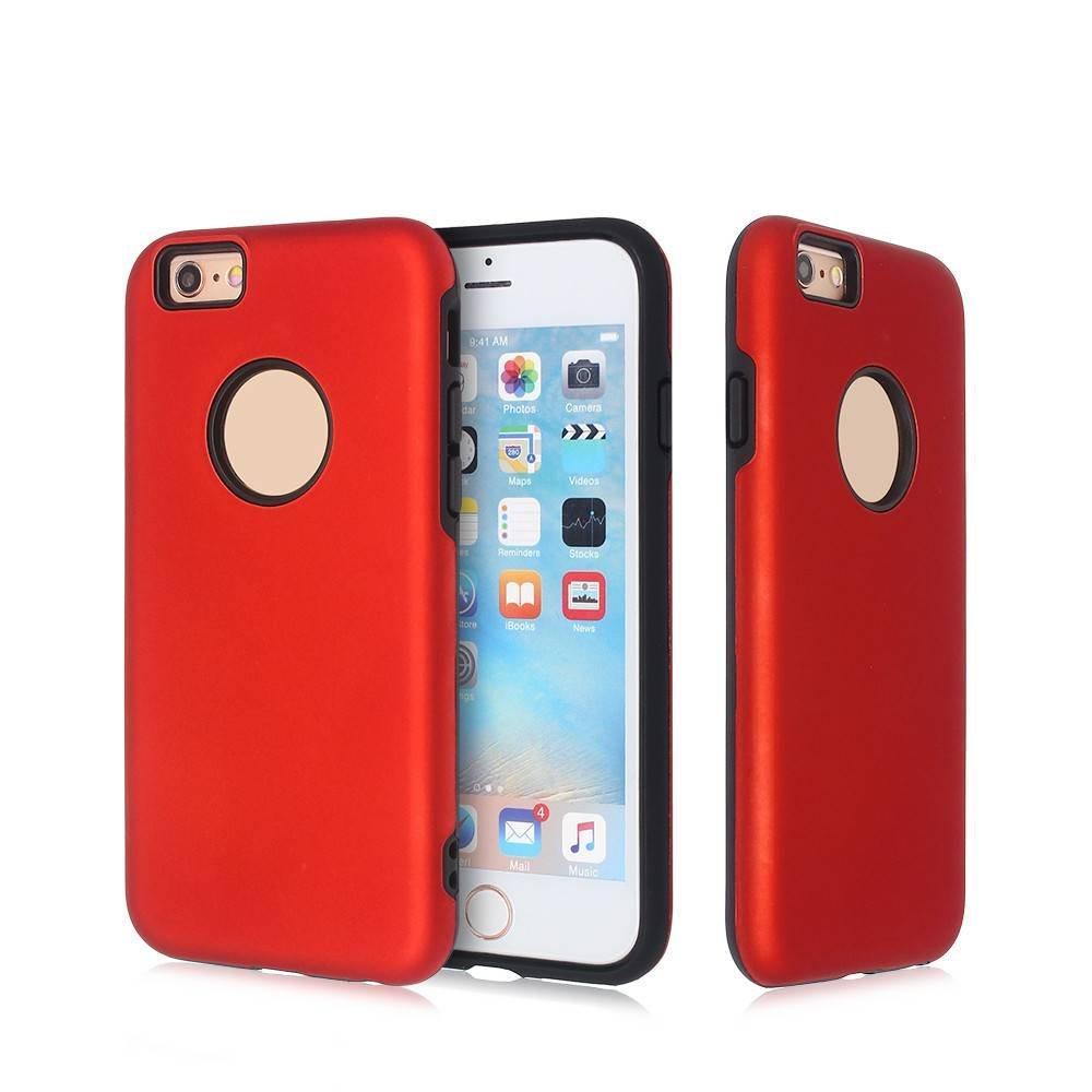 Funda para iPhone 6 a prueba de golpes con cubierta de PC de goma