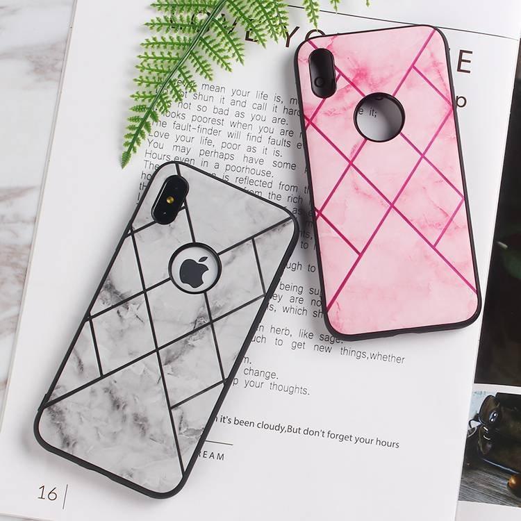 Funda de piel con teléfono móvil para iPhone X
