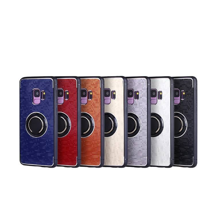 Factory Wholesale 3 in1 Mosaic Case for SAMSUNG S9 with Metal Ring