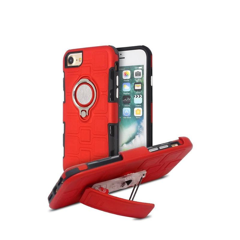 iPhone 7 Case with Belt Clip Front Cover and Ring