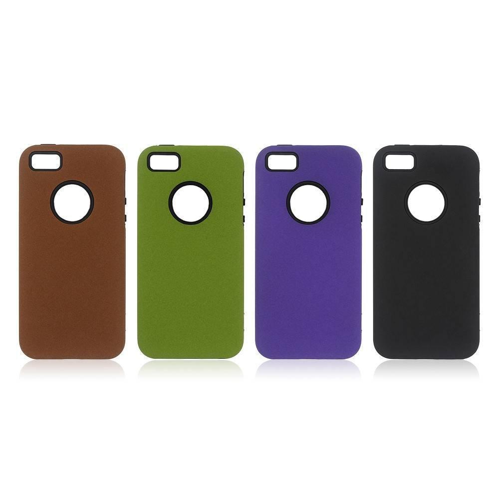 iPhone 5 casos hechos de TPU con una PC contraportada