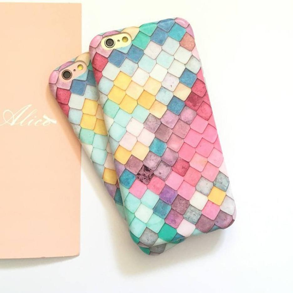 Ultra fino teléfono bonito caso para el iPhone 7 hecho de PC