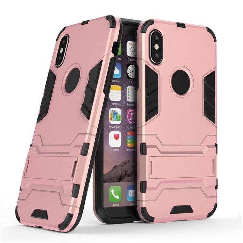 Nuevo iPhone X caja de teléfono robótico con Kickstand para la venta al por mayor